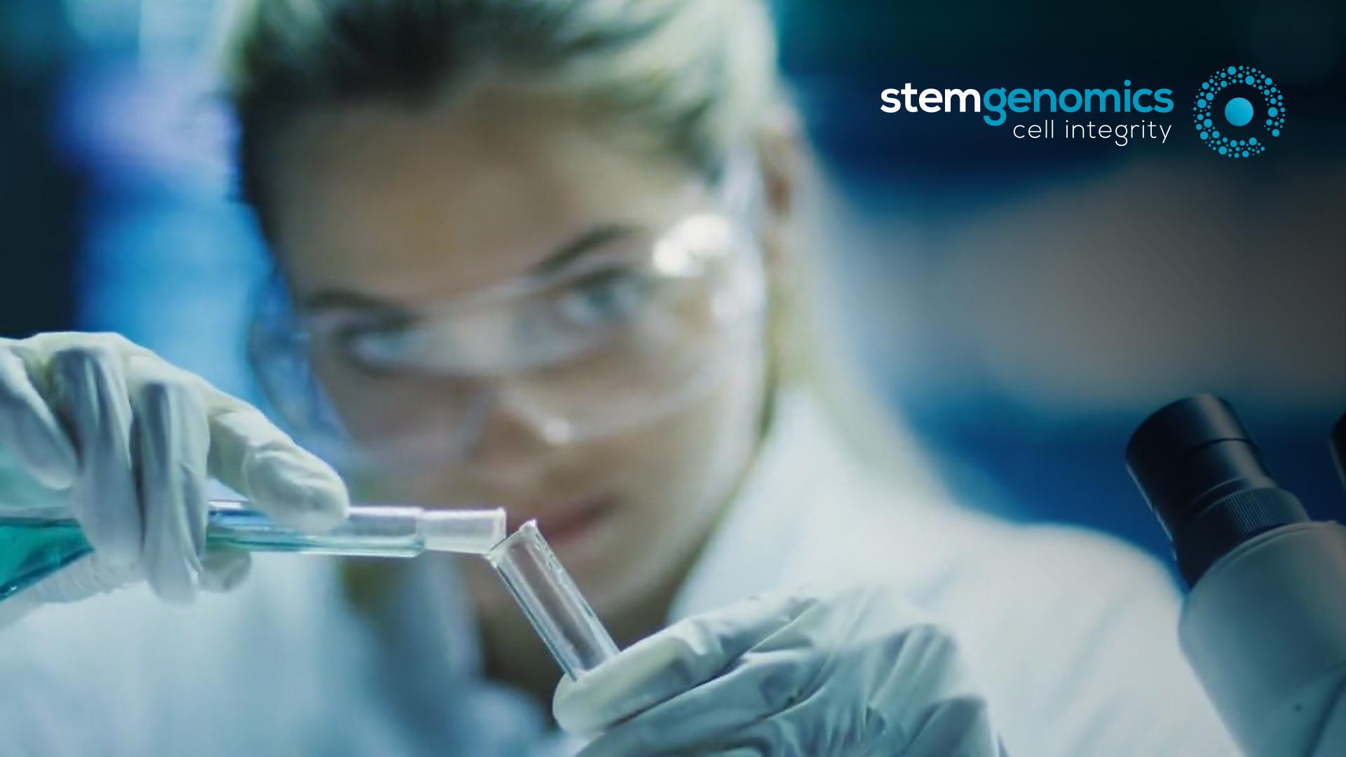 creation site internet logo charte graphique communication globale Stem Genomics Montpellier