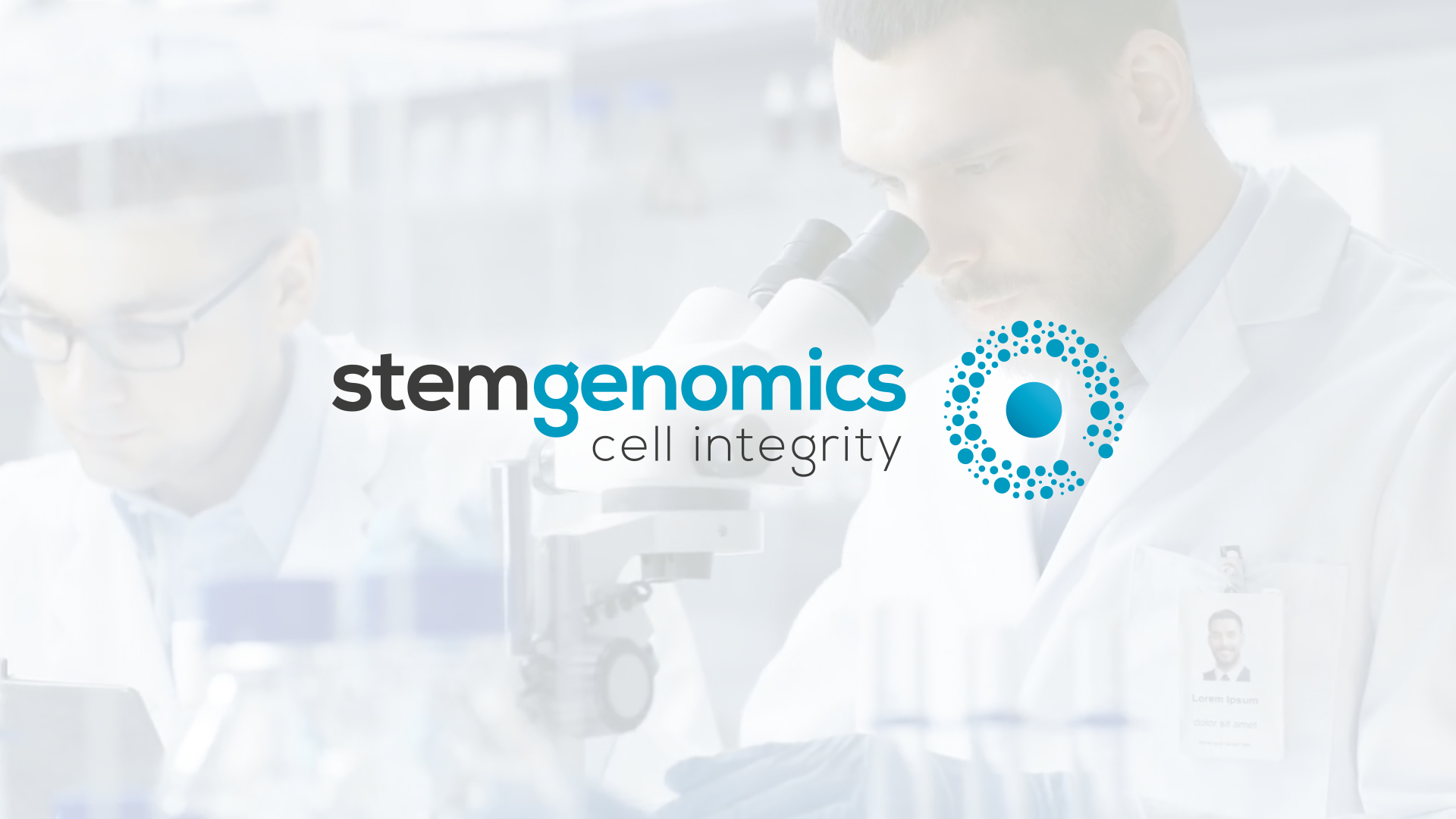 Creation identite visuelle logotype Stem Genomics Montpellier