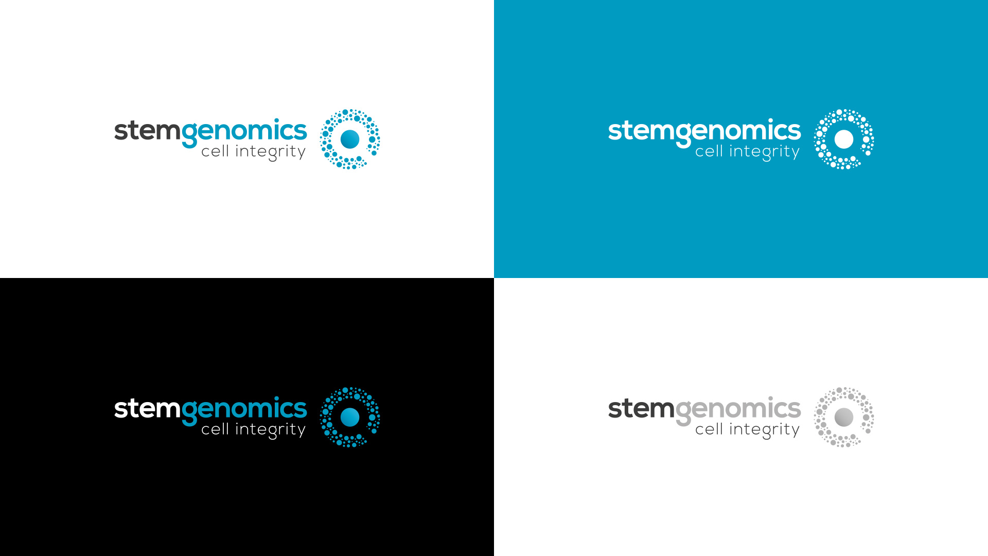 Creation logo identite visuelle Stem Genomics Montpellier