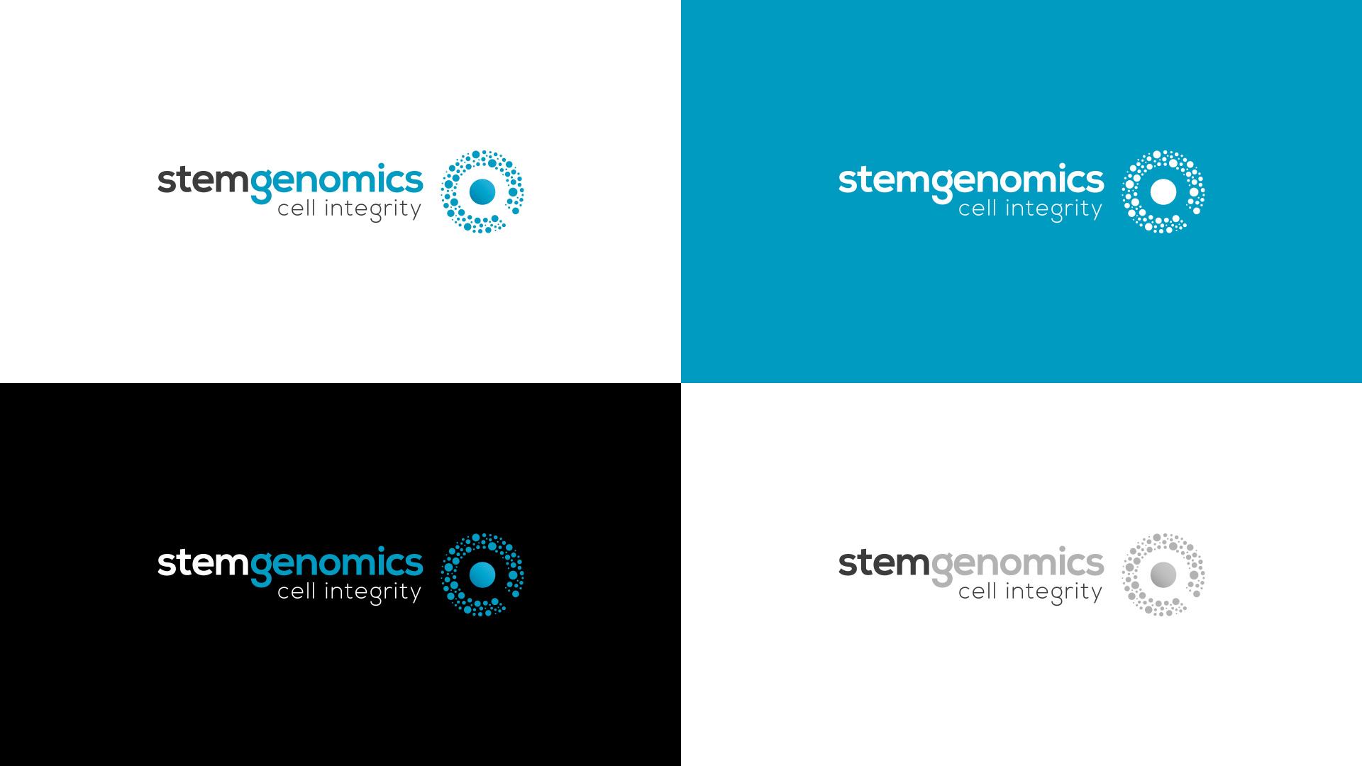 Creation logo identite visuelle Stem Genomics Montpellier