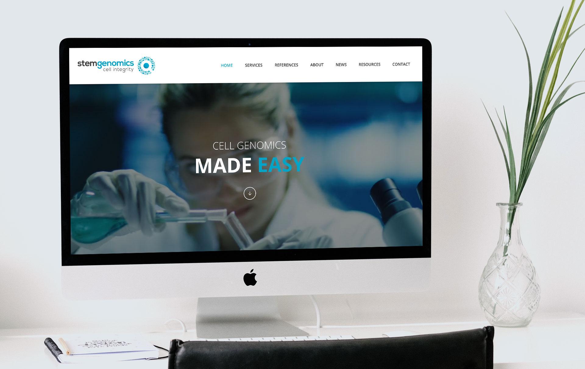 Creation site internet Stem Genomics Montpellier