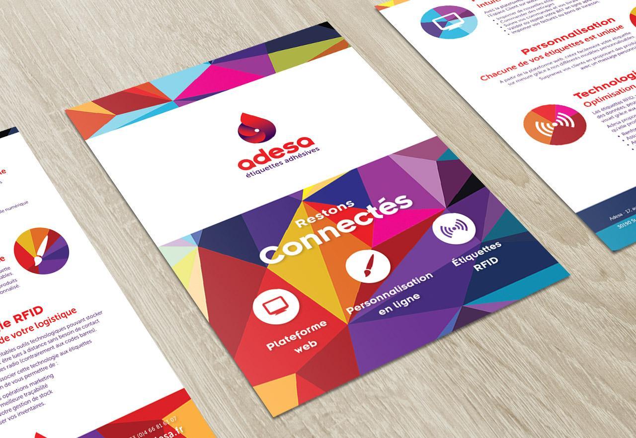 Création plaquette Adesa - Graphiste Montpellier