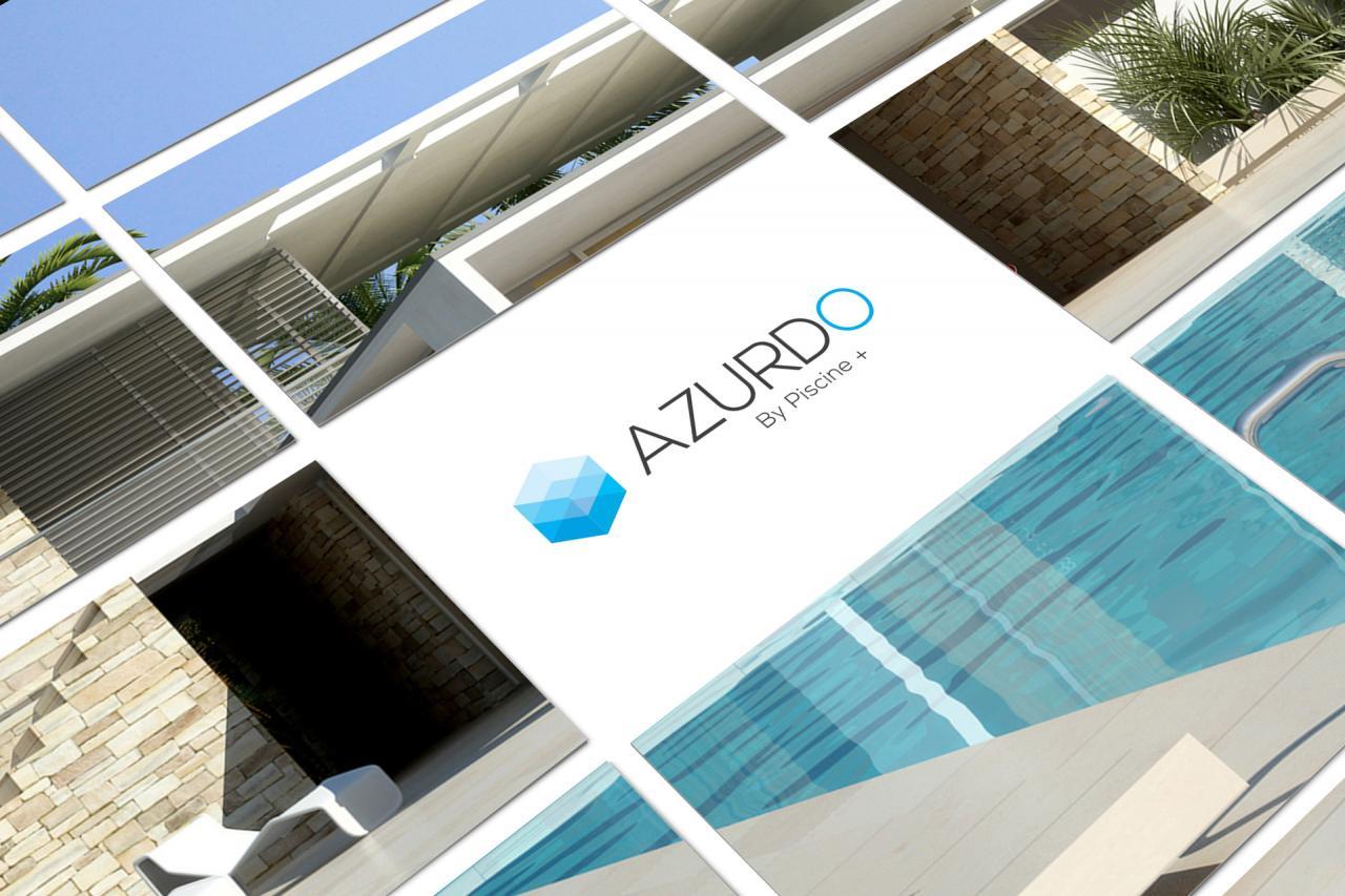 Réalisation logo pisciniste Azurdo Montpellier