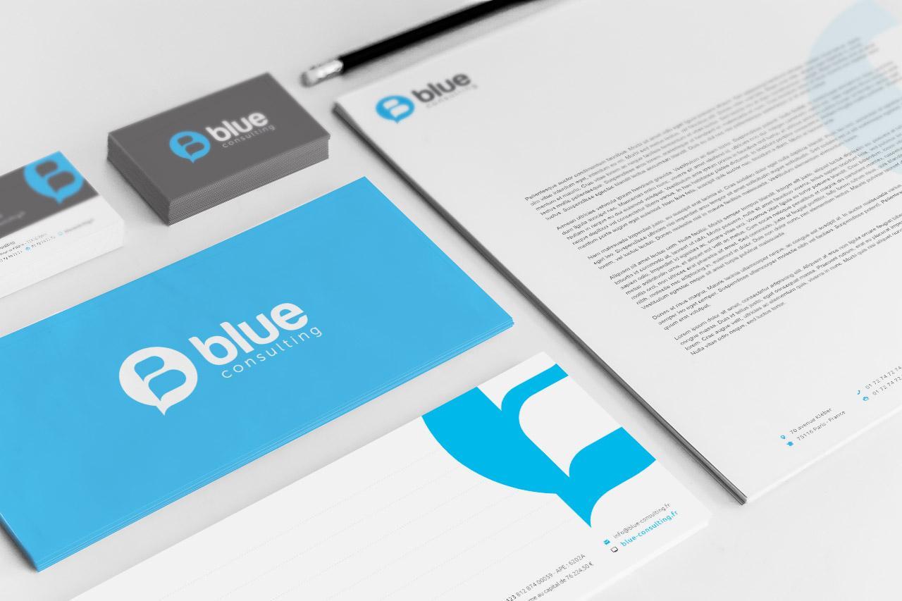 Blue Creation Papeterie Caconcept Alexis Cretin Graphiste Montpellier