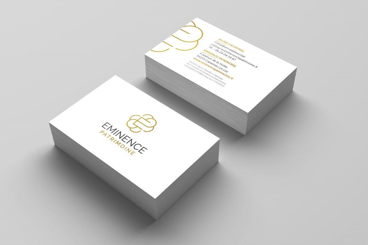 Conception des cartes de visite du cabinet de gestion - Ouvrir un cabinet de gestion de patrimoine ...