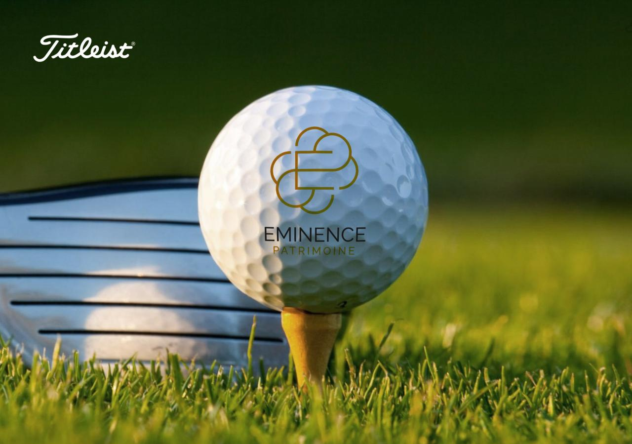 creation logo sur balle golf titleist pro v1 graphiste Montpellier