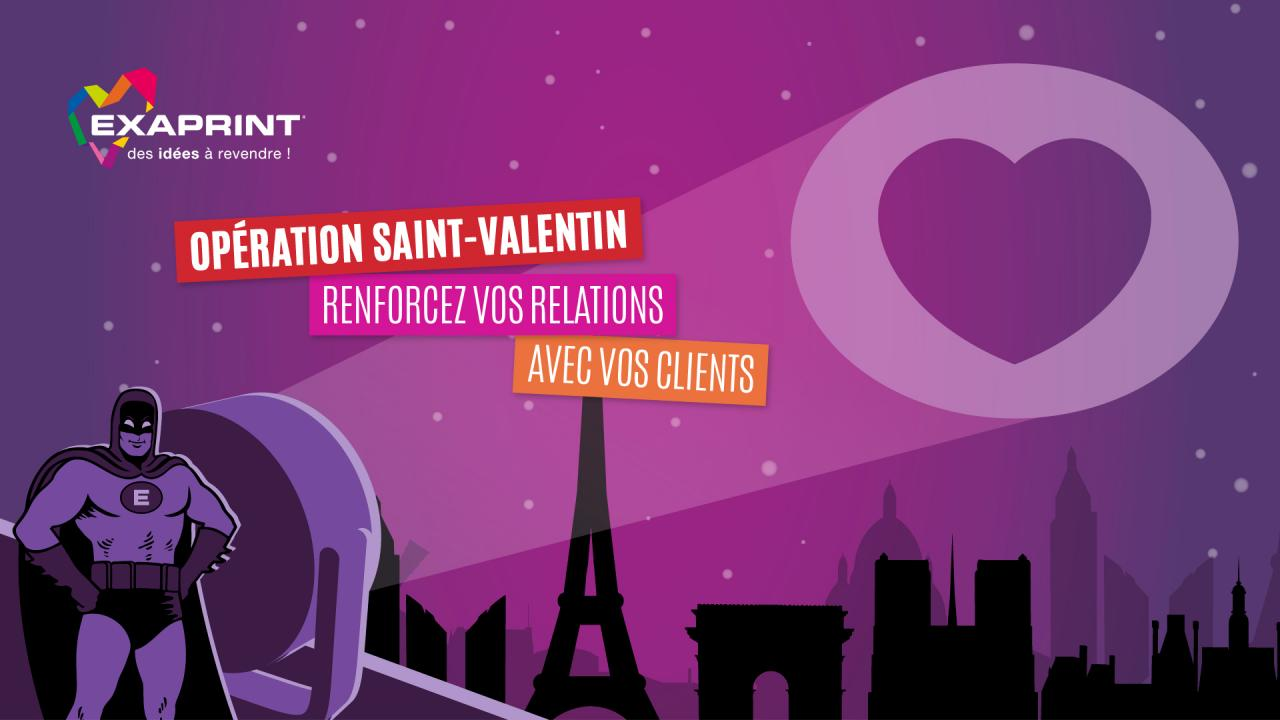 Creation concept visuel Exaprint Saint-Valentin graphiste Montpellier Caconcept Alexis Cretin