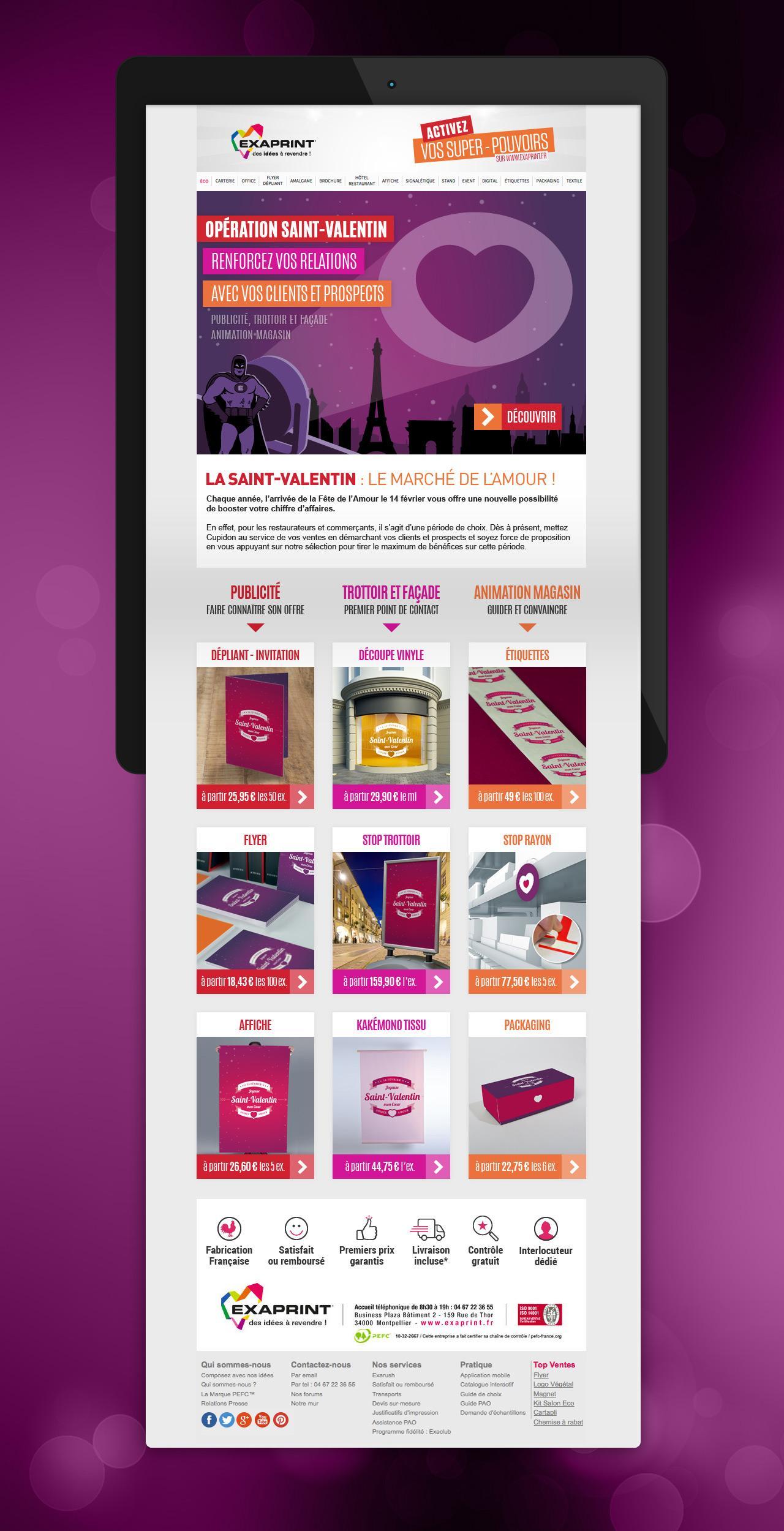 Exaprint Saint Valentin Creation Mailing Graphique Newsletter Caconcept