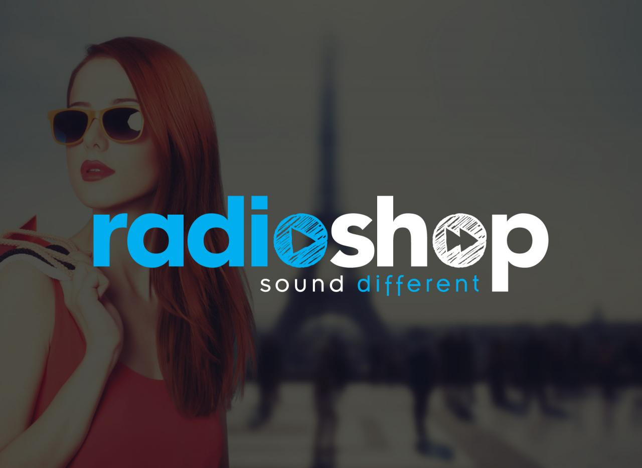 Radioshop création logo graphiste Montpellier