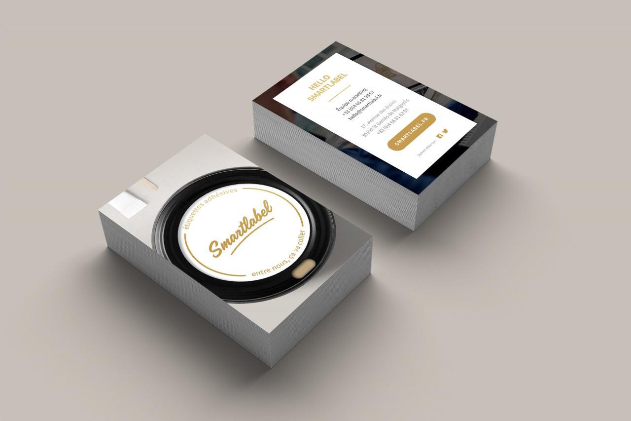 Creation Carte De Visite Imprimeur Etiquettes Adhesives