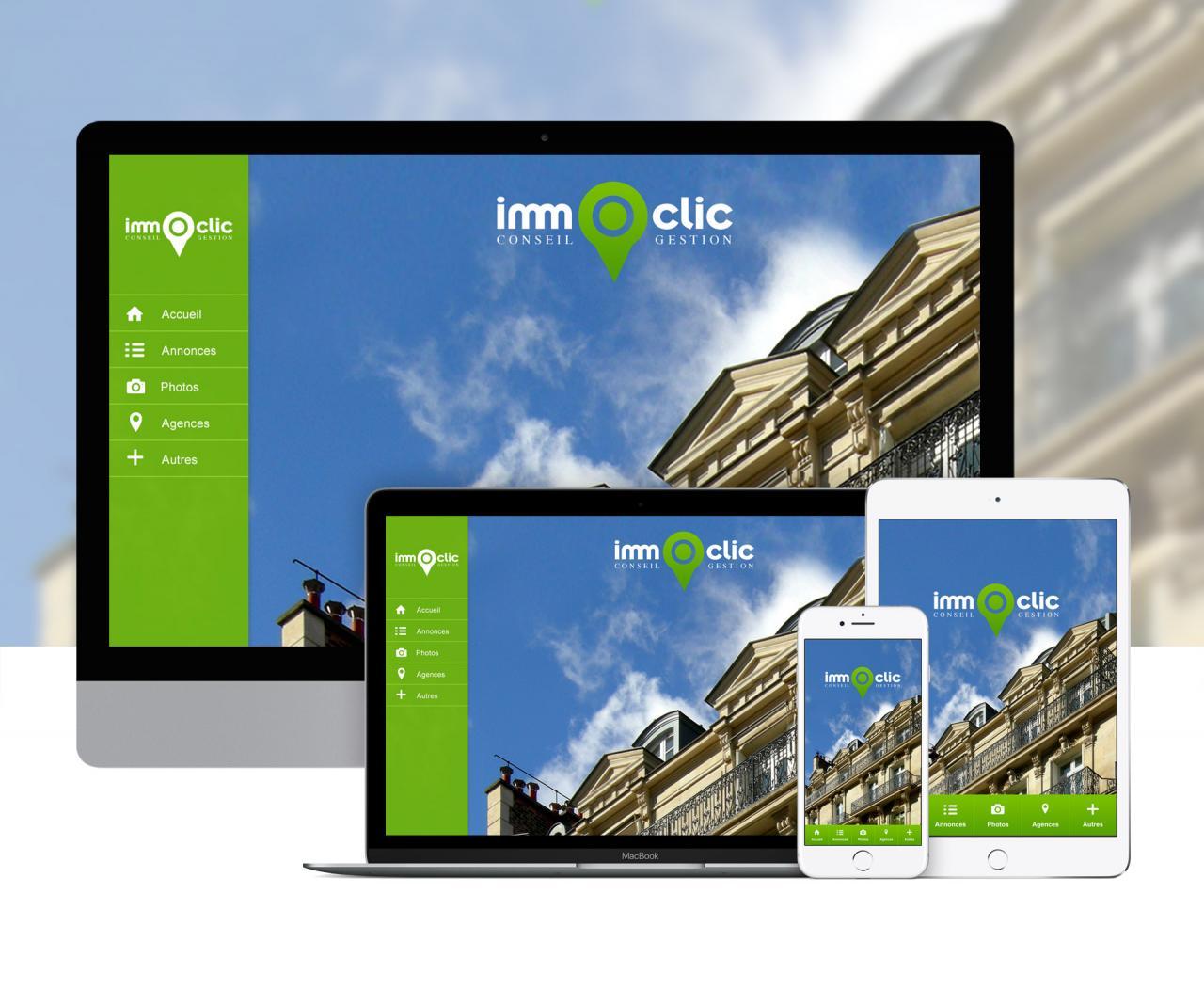Création d'une application de démo pour agence immobilière