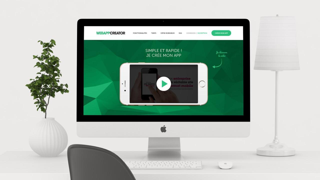 Création webdesign site internet pour Webappcreator