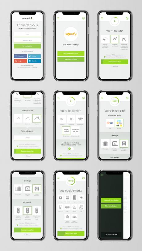 creation ui ux design application simulation mobile autoconsommation solaire