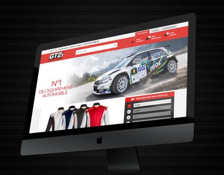 Site web e-commerce rallye tuning racing compétition automobile GT2i