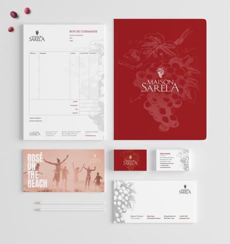 Creation communication cartes affiche fiche produit vins viticulteur Montpellier