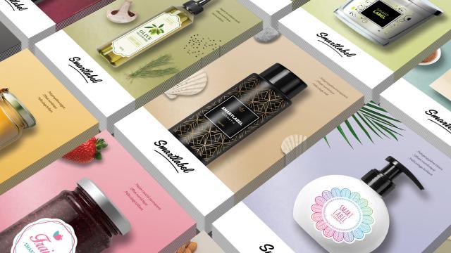 Création mockup etiquettes adhesif nuancier kit echantillon graphiste Montpellier
