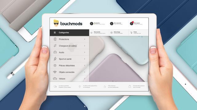 Création design site e-commerce www.touchmods.fr - Caconcept graphiste Montpellier