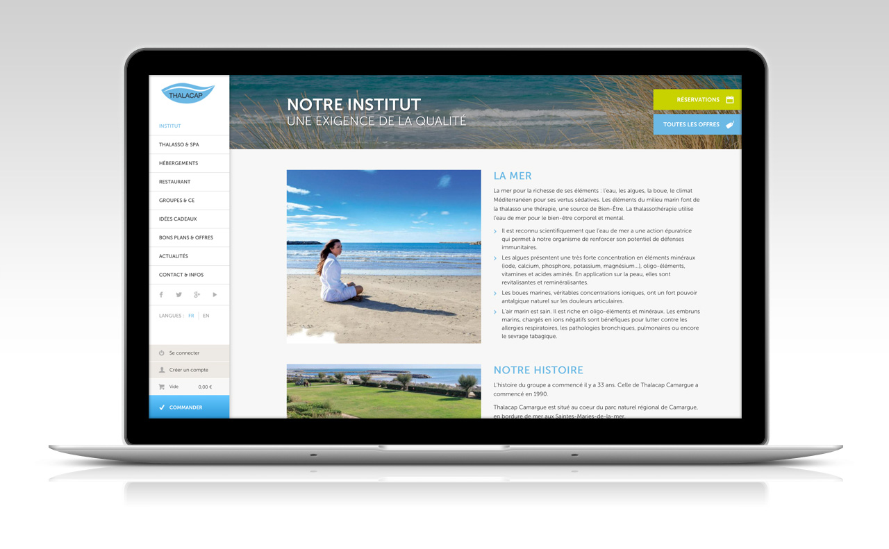Création e-commerce hotel-spa Méditerranée