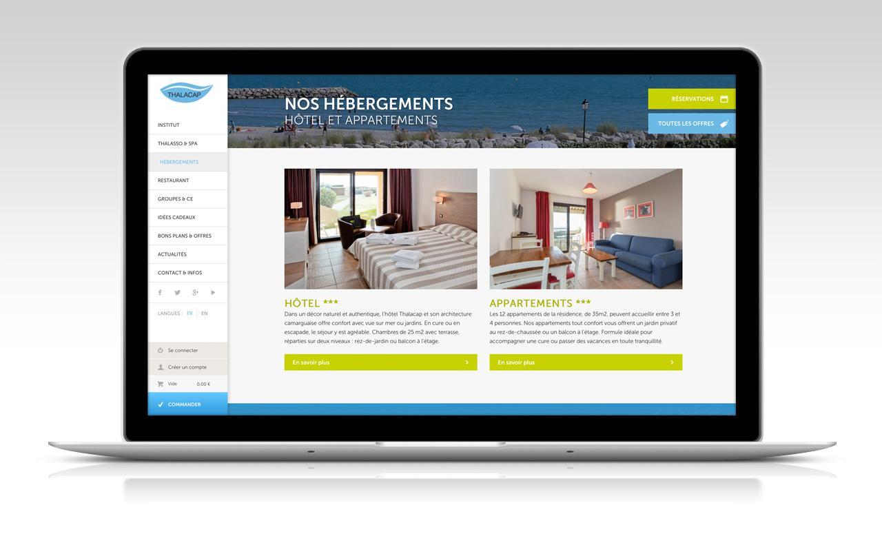 Création site ecommerce hôtellerie et spa