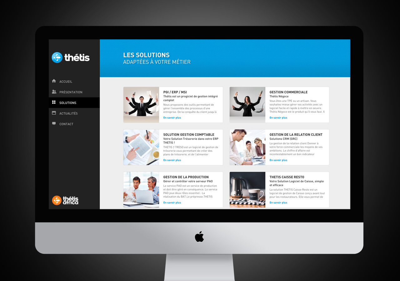 Création site web de Thétis - Caconcept graphiste Montpellier