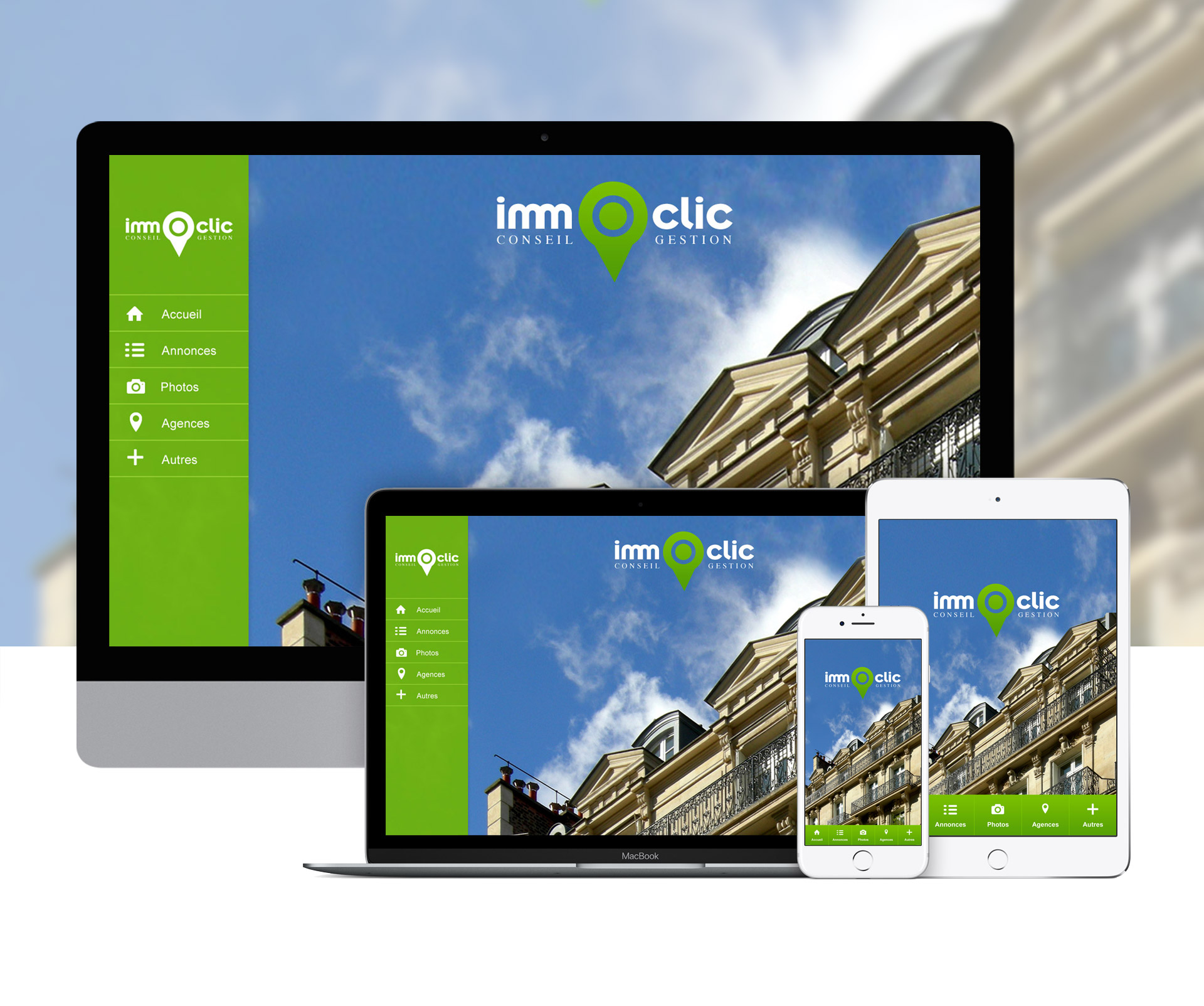 Création webapplication agence immobilière agent immobilier