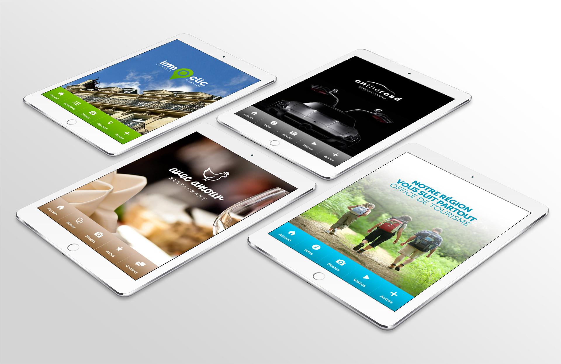 Création applications webapp démonstration